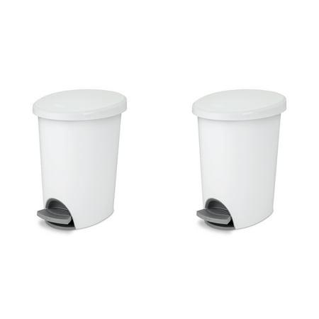 Sterilite, 2.6 Gal./9.8 L Ultra StepOn Wastebasket, White , Case of 2