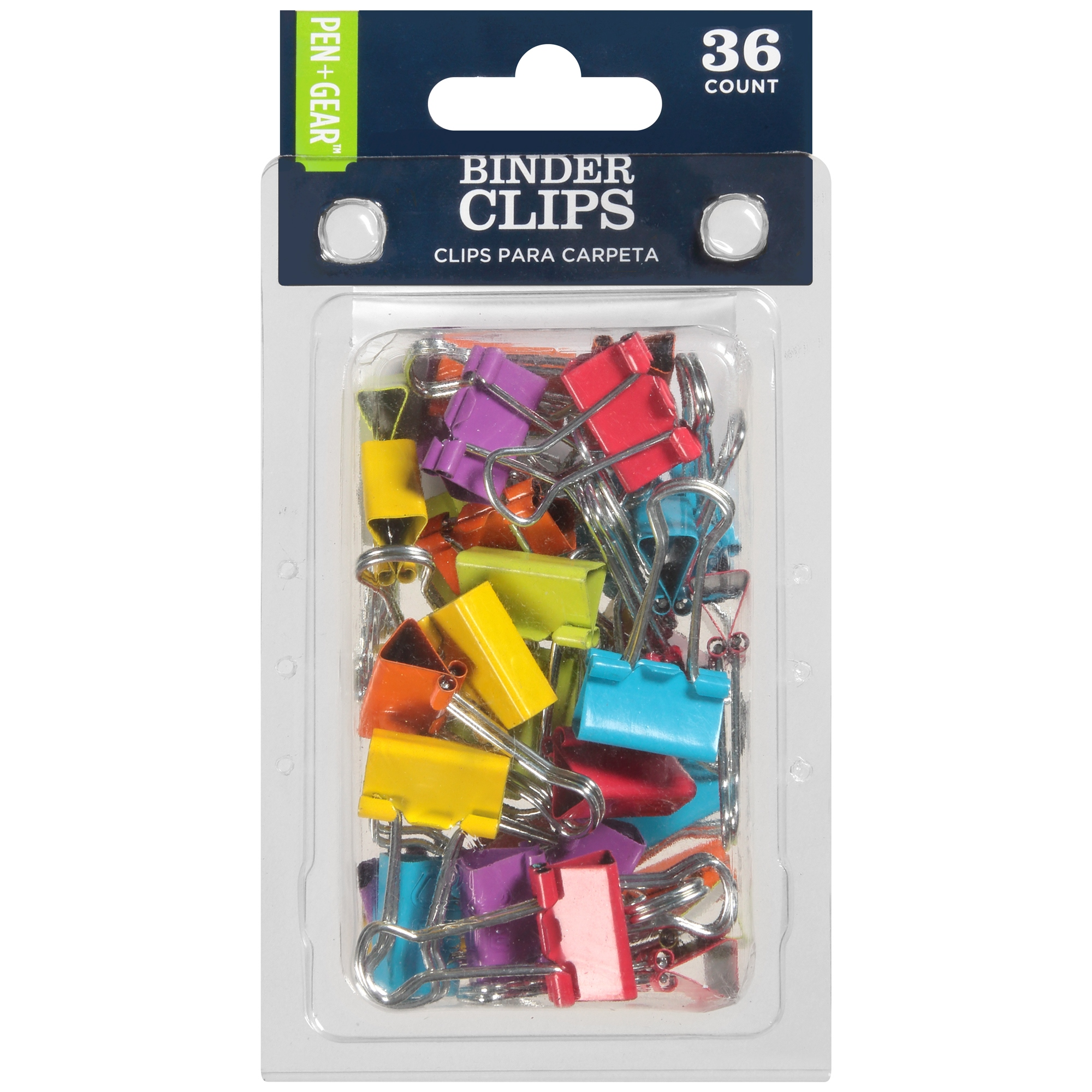 "PEN + GEAR™ 0.75"" Binder Clips, Assorted Colors, 36 count"