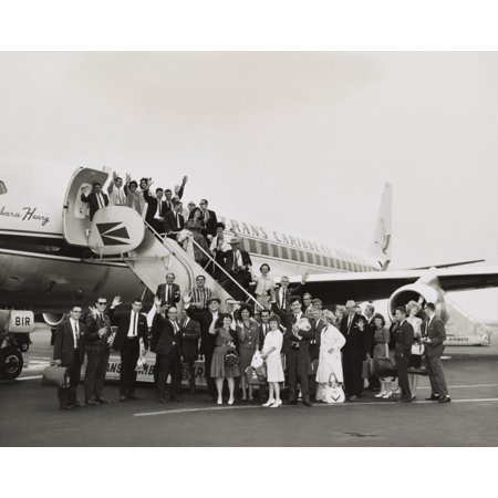 Peace Corps Volunteers Boarding A Trans Caribbean Airways Jet Bound For San Juan History