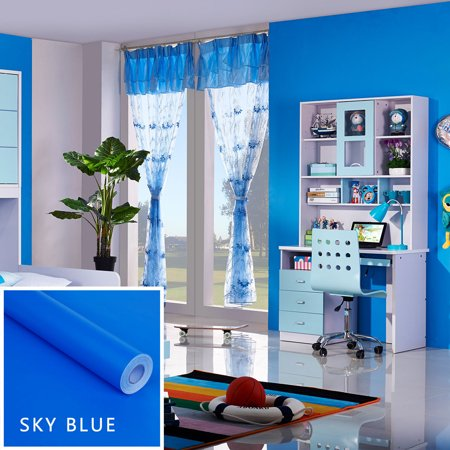 CARLTON GLOBAL Kind Color Shiny Furniture Refurbished Stickers Pvc Removable Wallpaper Home De ()