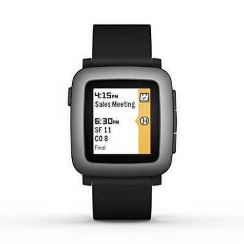 Refurbished Pebble Time Smartwatch - Black