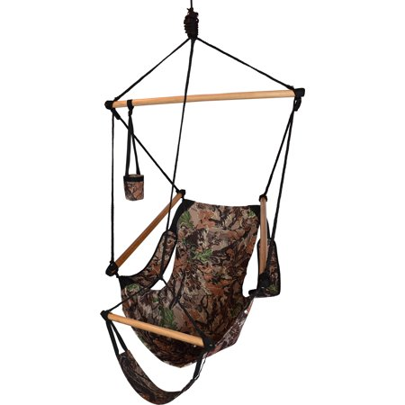 Hammaka Hammocks Cradle Hanging Air Hammock Chair Relax in comfort and style with the Hammaka Hammocks Cradle Hanging Air Hammock Chair, featuring a lightweight yet durable, portable design. This hanging hammock chair includes a footrest for added support, and a cup holder offers a spot to place your favorite beverage as you sway the day away. Hammaka Hammaka products, now brought to you by King's Pond, are designed to provide a comfortable getaway from all of life's stresses. It all started with the Original Hammaka Hammock Chair, but the wide variety of luxurious chairs is constantly growing in order to give you the perfect fit. You can also put your mind at ease, as well as your body, knowing that Hammaka has gone green by using renewable materials and environmentally responsible manufacturing processes committed to recycling and energy conservation.