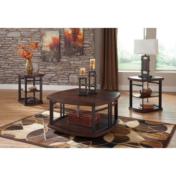 Signature Design By Ashley Challiman 3 Piece Coffee Table