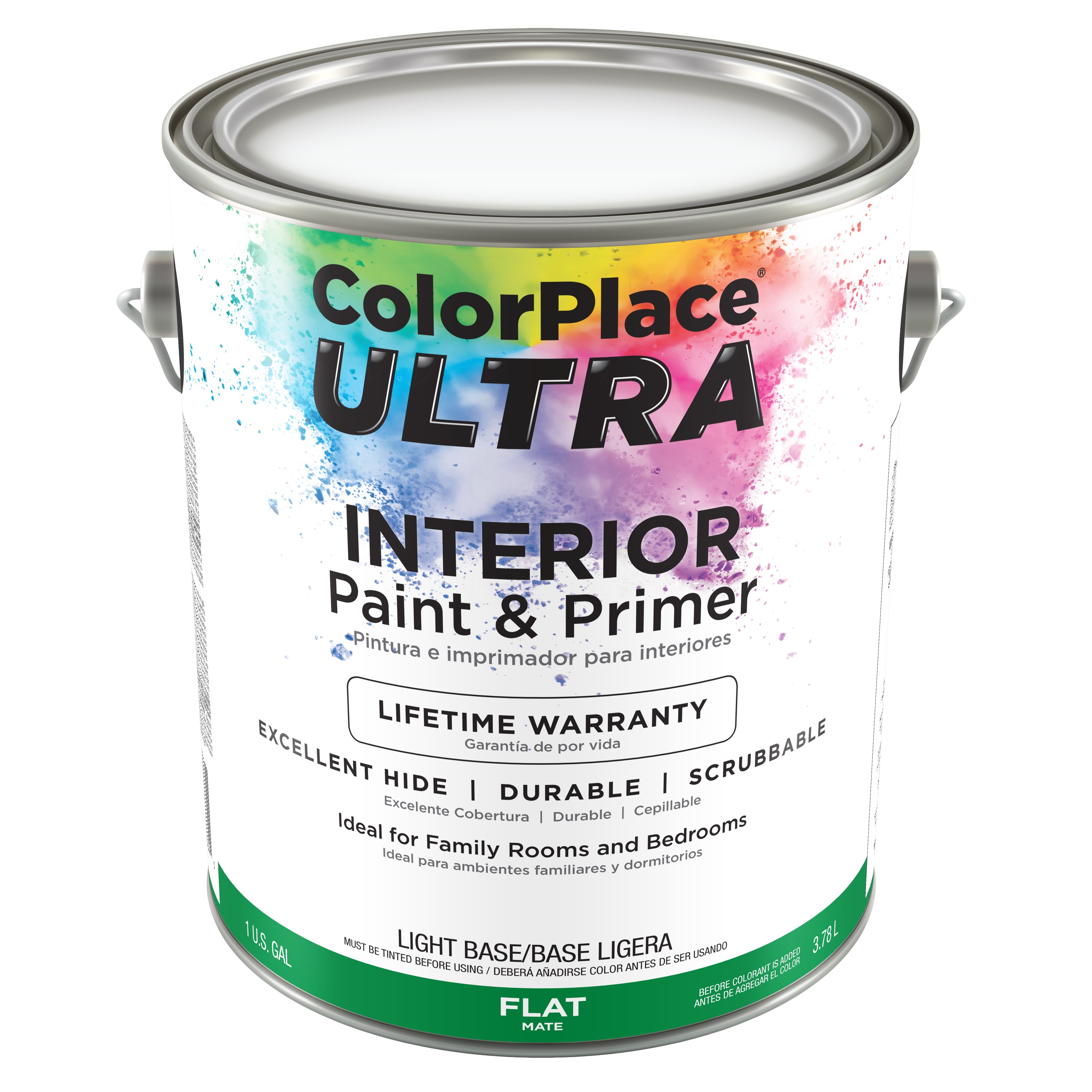 Color Place Ultra Flat Interior Paint & Primer Light Base, 1-Gal