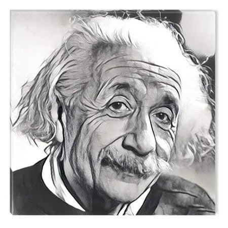 Startonight Canvas Wall Art Black and White Abstract Albert Einstein ...