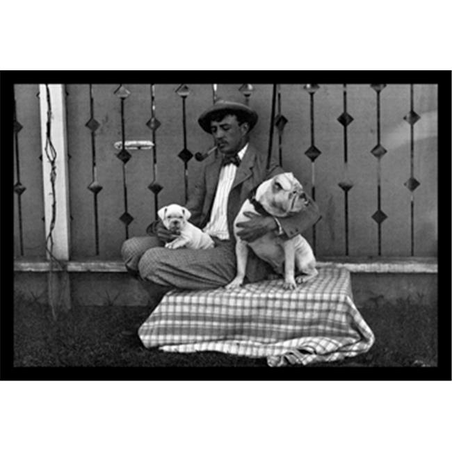 Buy Enlarge 0-587-04374-1P20x30 Bulldog  Master  and Pup- Paper Size P20x30