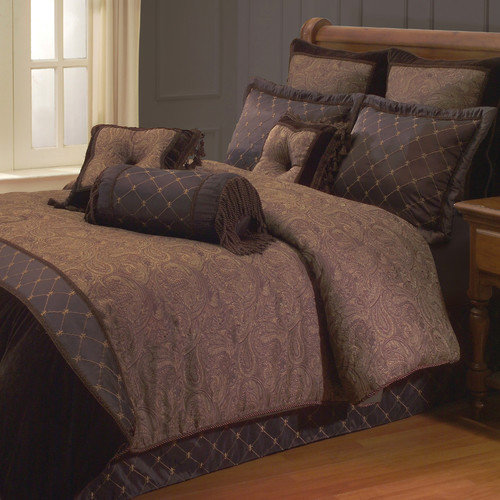Hallmart Collectibles Opulent Paisley Comforter Set