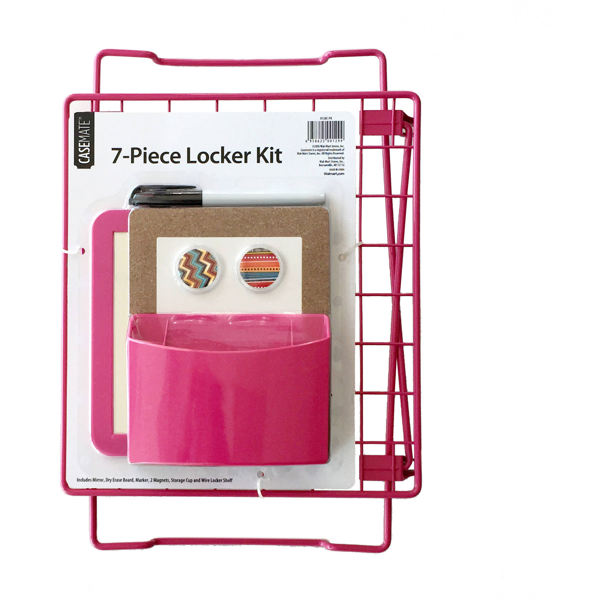 7-Piece Locker Kit, Pink