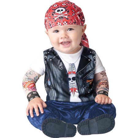 Born To Be Wild Biker Costume Child Infant 18-2T Months - image 1 de 1