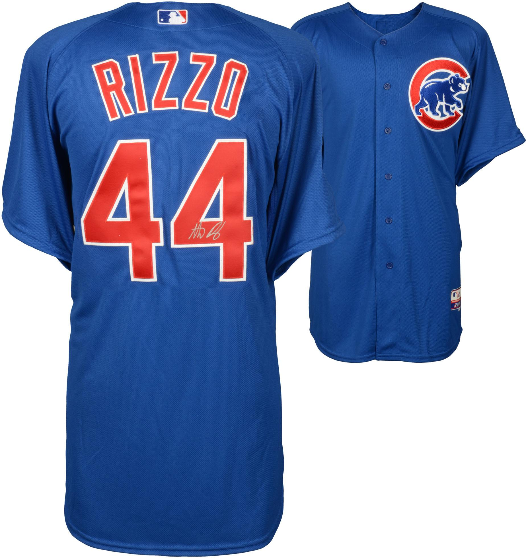 Anthony Rizzo Chicago Cubs Autographed Blue Authentic Jersey