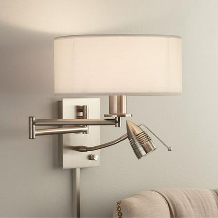 Adjustable Triple Swing Arm Lcd (Possini Euro Design Possini Euro Tesoro LED Reading Swing Arm Wall Lamp )