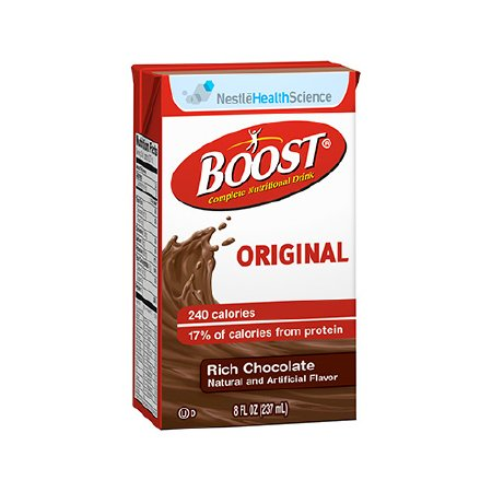 - Nestle Boost Original Nutritional Rich Chocolate Drink  ''8 oz, 240 Cal, Case of 27'' -4 Pack