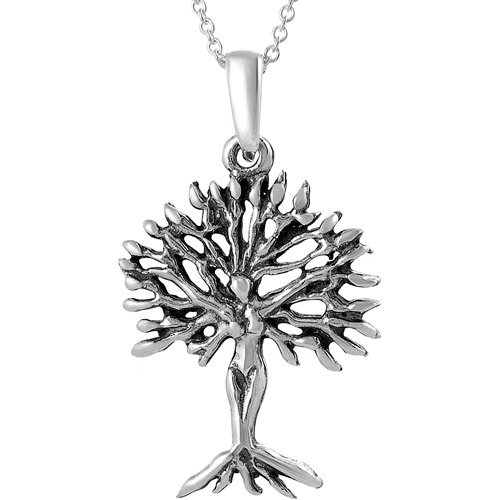 Brinley Co. Sterling Silver Tree of Life Pendant, 18""