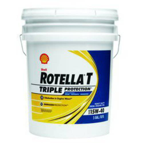 Shell Rotella T 15W-40 Heavy Duty Diesel Oil, 5 gal.
