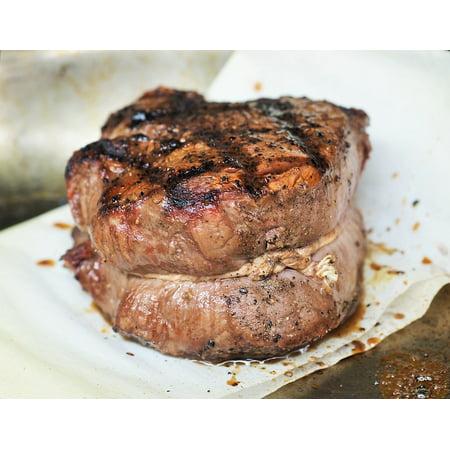 Framed Art For Your Wall Dinner Food Steak Fillet Meat Grilled Beef Meal 10x13 (Beef Fillets)