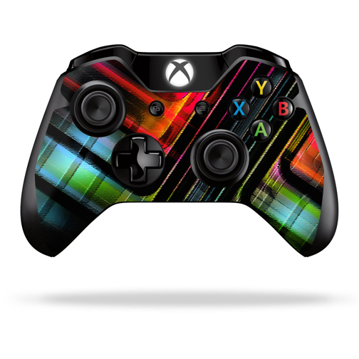 Protective Vinyl Skin Decal Cover for Microsoft Xbox One Controller wrap sticker skins Plaid Abstract