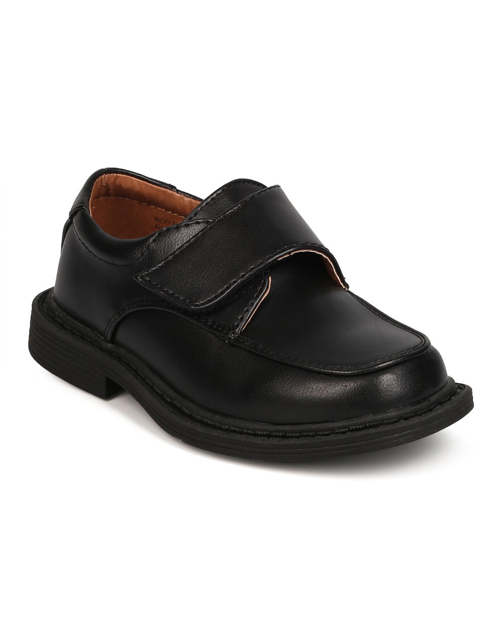 School Rider FC34 Leatherette Square Toe Banded Dress Shoe (Little Boy /...