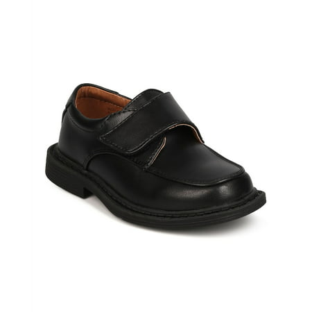 School Rider Fc73 Leatherette Square Toe Banded Dress Shoe Toddler Boy