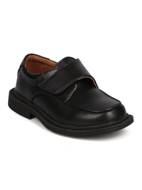 New Boys School Rider Ricky-913D Leatherette Square Toe Banded Dress Shoe