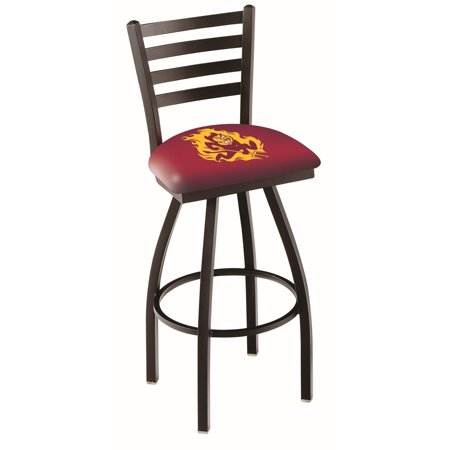 Logo Fabric Bar Stool - Arizona State Bar Stool w/ Sun Devils Logo Swivel Seat - 36