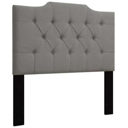 Pemberly Row Upholstered King California King Panel Headboard in Gray California King Metallic Headboard