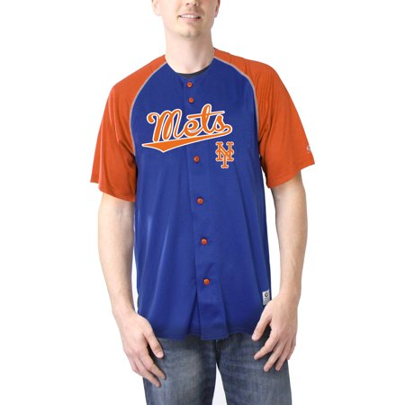 MLB New York Mets Men's TMC Button Down Jersey - New York Mets Baseball Jersey