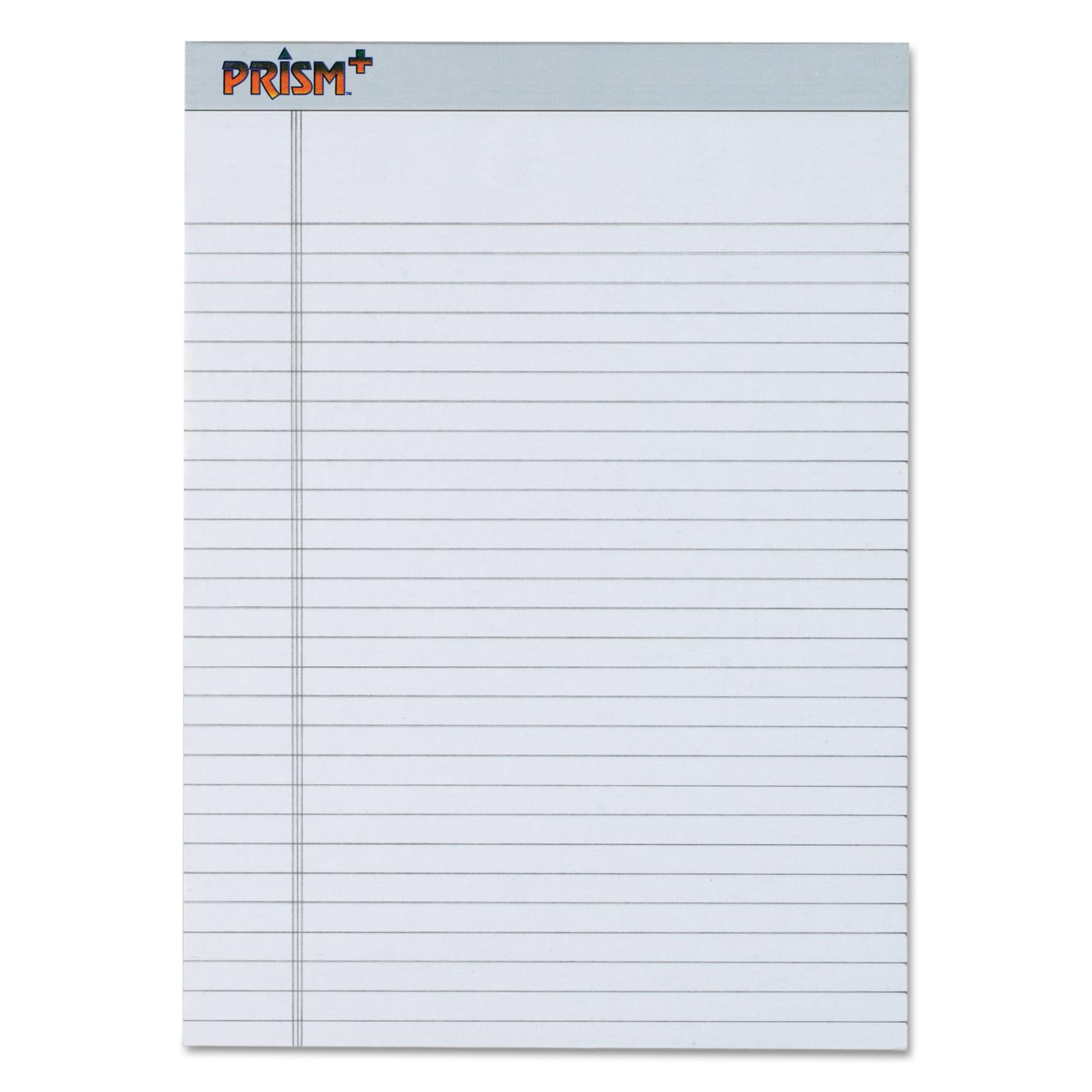 TOPS Prism Plus Colored Legal Pads, 8 1/2 x 11 3/4, Blue, 50 Sheets, Dozen