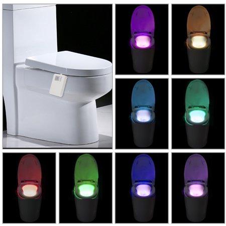 Tomshine 16 Colors Changing Led Toilet Night Light A  Level Power Saving Sensor Motion Activated Light
