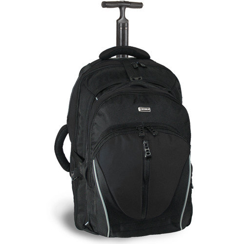 J World Dickens Rolling Backpack with Detachable Daypack