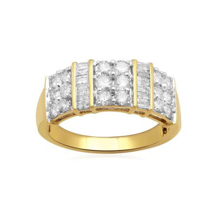 Got Baguette - 1 Carat T.W. Baguette and Round Diamond 10kt Yellow Gold Cocktail Ring