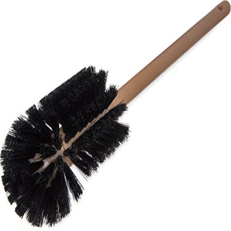 Carlisle 4014000 Flo-Pac Plastic Handle No-Splash Bowl Brush, Polyester Bristles, 6-1... by
