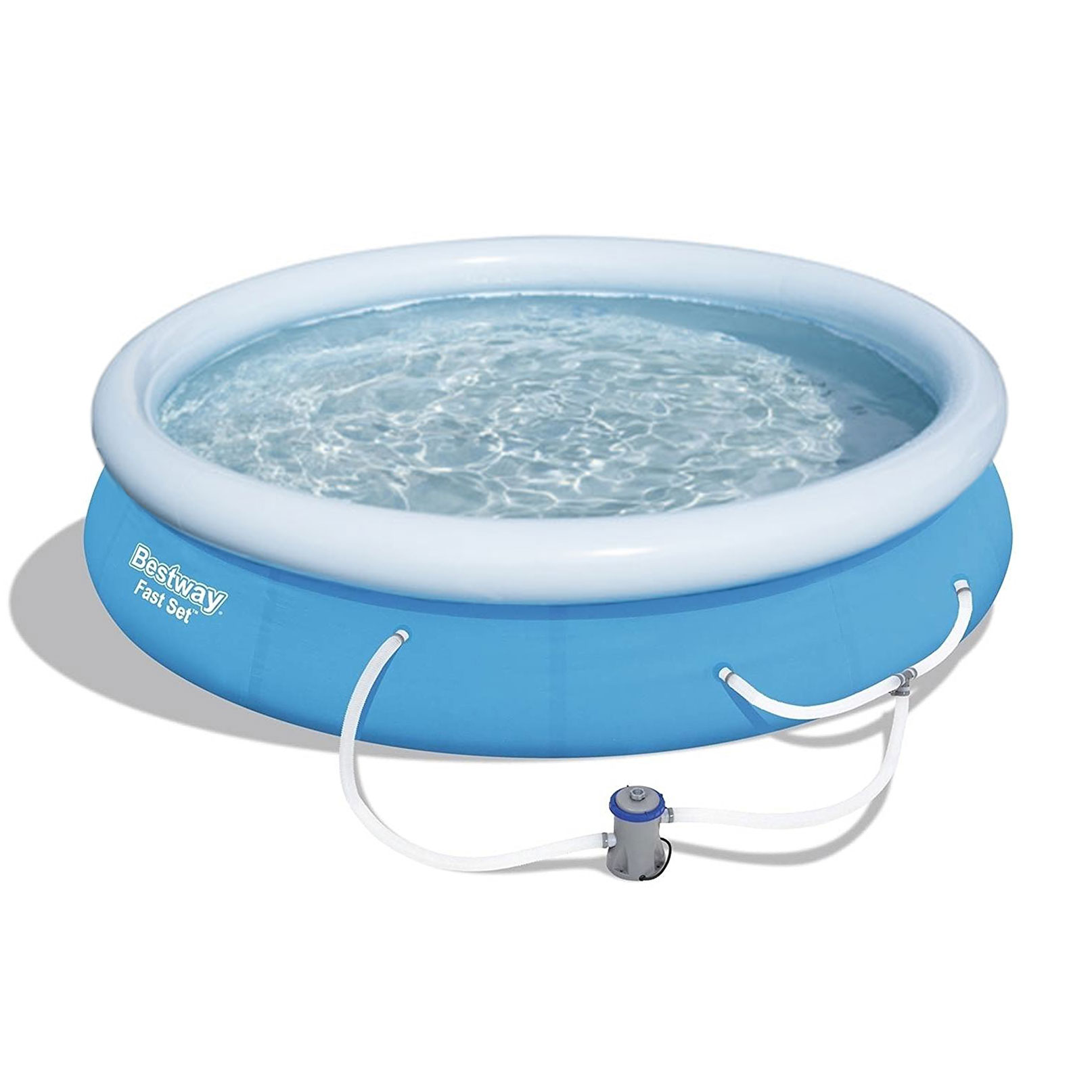 "Bestway 12' x 30"" Fast Set Inflatable Above Ground Swimming Pool w  Filter Pump by Bestway"