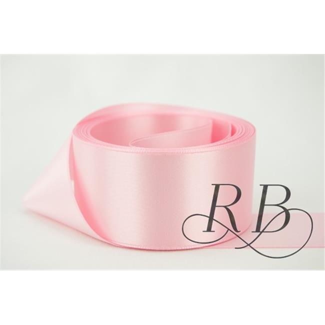 Ribbon Bazaar 2997 0.13 in. Double Faced Satin Ribbon, Light Pink - 100 Yards