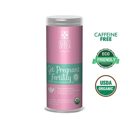 Get Pregnant Fertility Herbal Tea - USDA/FDA Approved - Helps Improve Hormone Balance and Improves Regulation - 20 Tea -