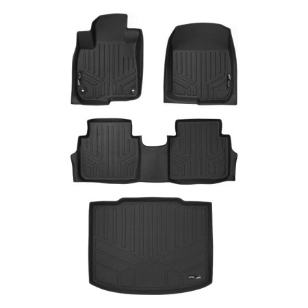 (Maxliner 2017-2018 Honda CRV Floor Mats 2 Row Set Maxtray Cargo Liner Lower Deck Position Black A0250/B0250/D0251)