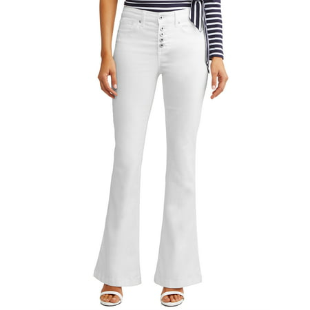 - Melisa High Waist Stretch Flare Jean Women's (White)