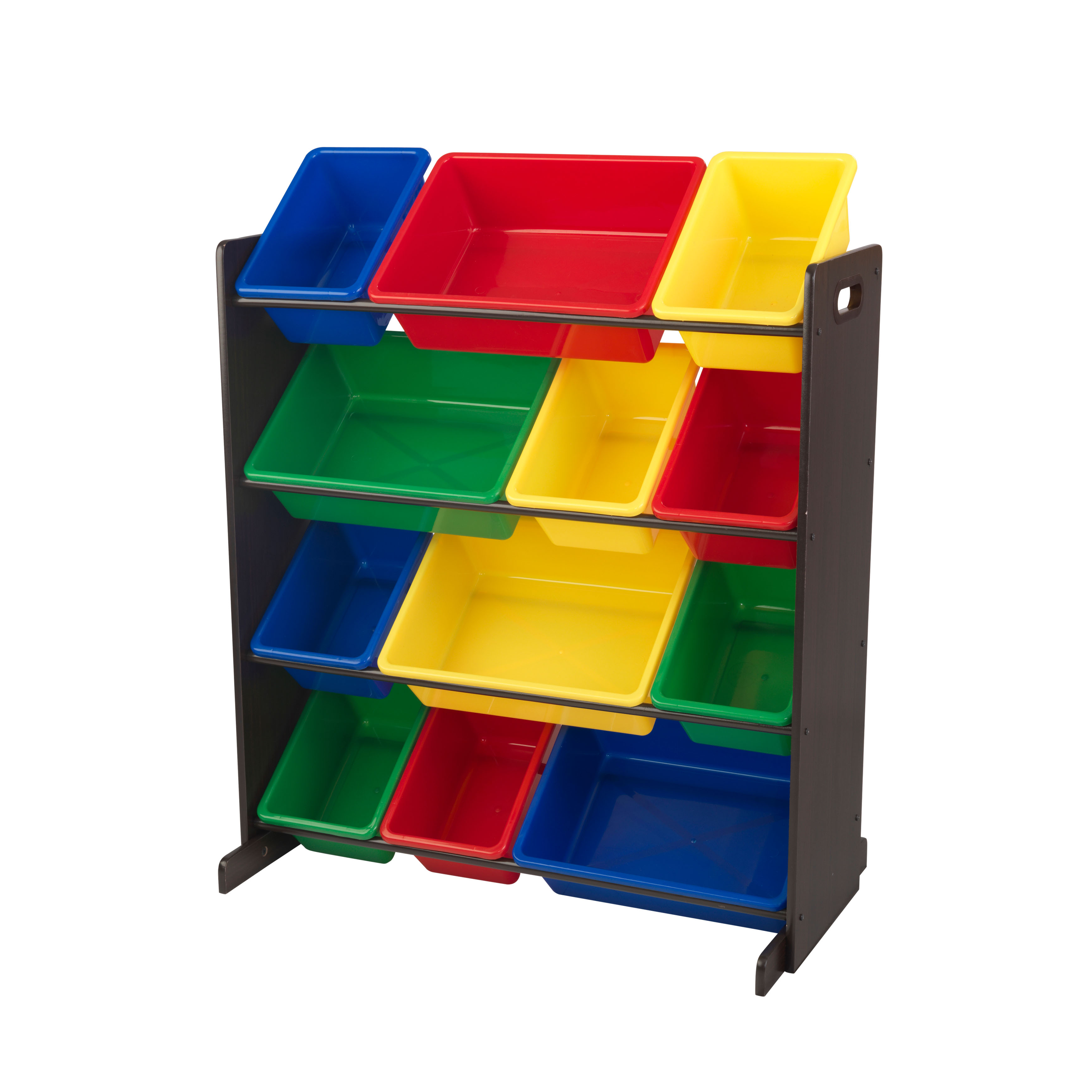 KidKraft Sort It & Store it Bin Unit - Primary & Espresso