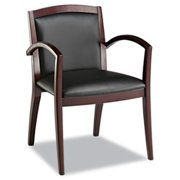 Alera RL5219M Reception Lounge 500 Series Arch Back Solid Wood Chair