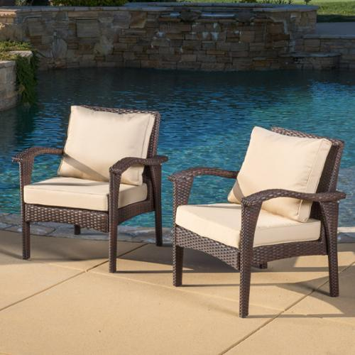 Athens Brown Club Chairs (2 Pack)