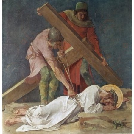 Jesus Falls the Third Time 1898 Martin Feuerstein Saint Anna Church Munich Germany Poster Print