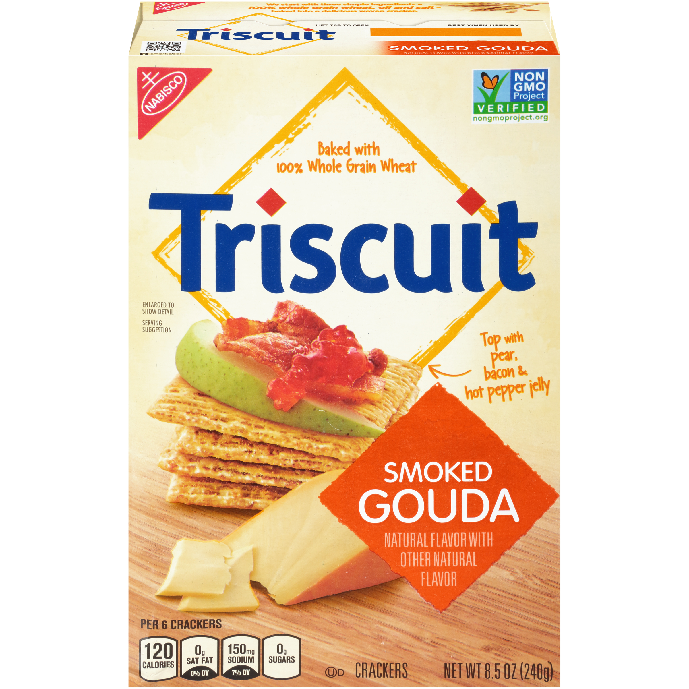 (2 Pack) Triscuit Smoked Gouda Crackers 8.5 oz