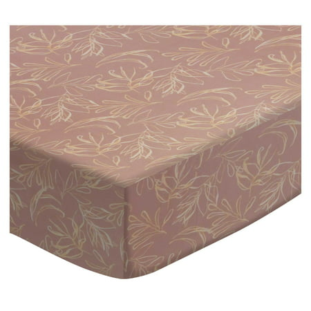 SheetWorld Fitted Pack N Play (Graco Square Playard) Sheet - Mauve Leaves