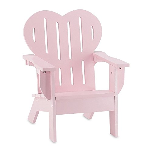 18 Inch Doll Furniture | Beautiful Pink Outdoor Adirondack Chair With Heart  Shaped Back | Fits