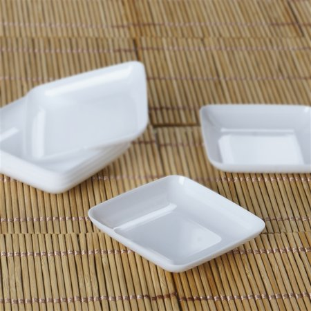 BalsaCircle 24 pcs Disposable Plastic Mini Plates for Wedding Reception Party Buffet Catering Tableware