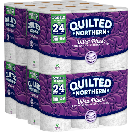 Quilted Northern Ultra Plush Toilet Paper, 48 Double Rolls - Northern Night Sheets