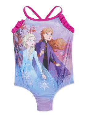 Disney Frozen 2 Toddler Girl Elsa Anna One-Piece Swimsuit