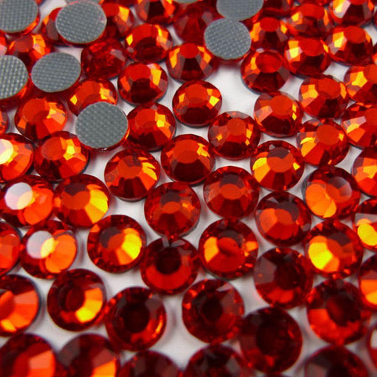 NEW ThreadNanny CZECH Quality 10gross (1440pcs) HotFix Rhinestones Crystals - 4mm/16ss, Hyacinth (Dark Orange) Color