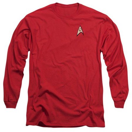 Star Trek-Engineering Uniform - Long Sleeve Adult 18-1 Tee - Red, Small - image 1 de 1