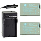 DSTE 2x BP_208 Battery + DC20 Travel and Car Charger Adap...