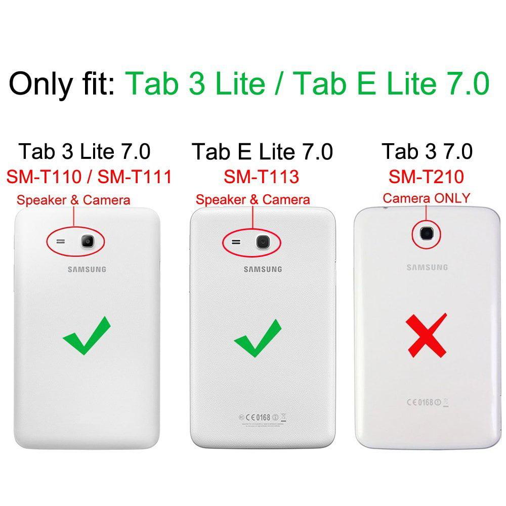 Fintie Folio Case for Samsung Galaxy Tab E Lite 7.0 SM-T113 / Tab 3 Lite 7.0 SM-T110 SM-T111 Tablet Stand Cover, Navy - Walmart.com